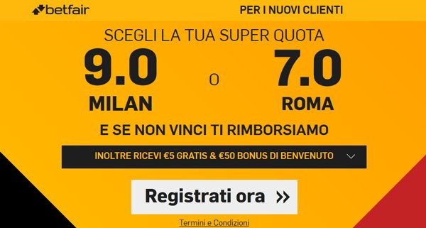 betfair scommesse super quote