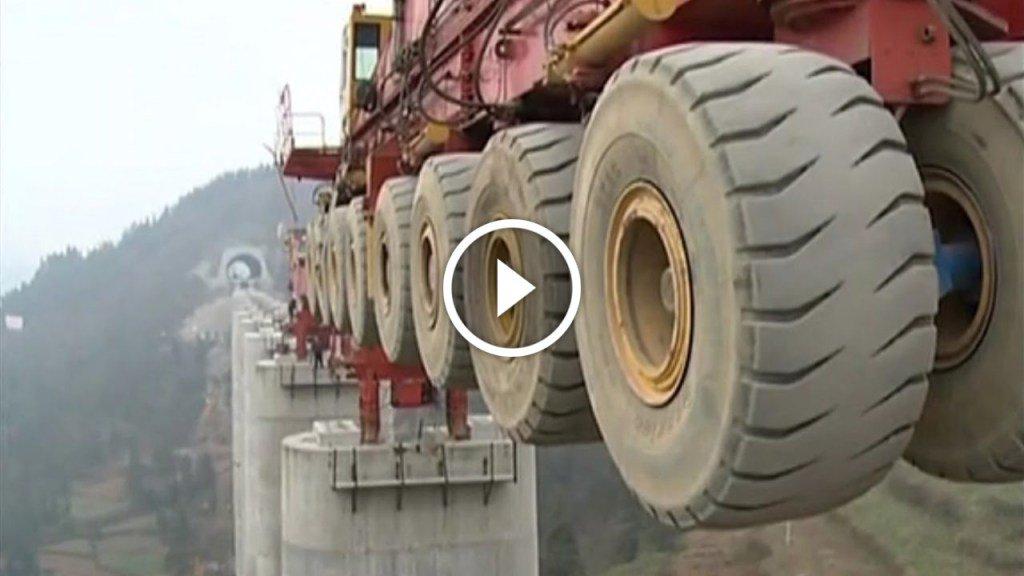 L'impressionante macchina per costruire i ponti stradali (Video Time-lapse)