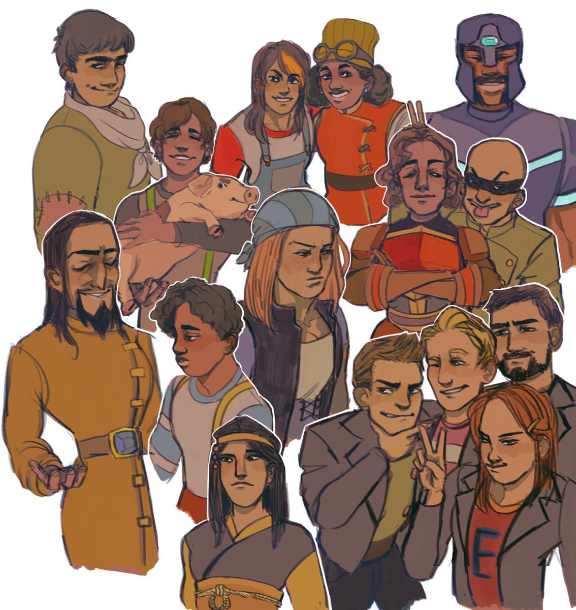Telltale Games On Twitter The Minecraft Storymode Cast Brought To Life In This Awesome Art By Touwata On Tumblr Https T Co Dhucao9gor