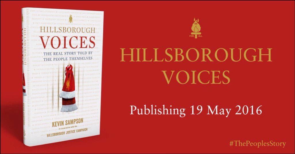 @ksampsonwriter discusses Hillsborough Voices @LEAFonBoldSt Thurs 26th May 7pm £6/5 #ThePeoplesStory 0151 709 9820 https://t.co/3VMXh54lL8