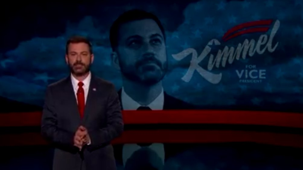 This is CNN: Jimmy Kimmel for Vice President