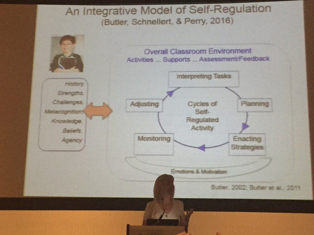 Deb Butler situates importance of self regulated learning on strong foundation of knowing our learners #noii2016 https://t.co/CbnBDzbFfD