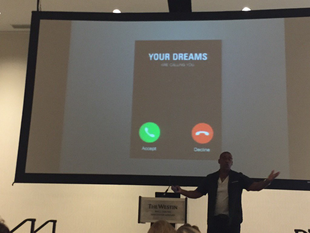 Your dreams are calling you! You can accept or decline the call - Roy Chen-Campbell @noiiaesn #noii2016 https://t.co/6wkZ1ATP37