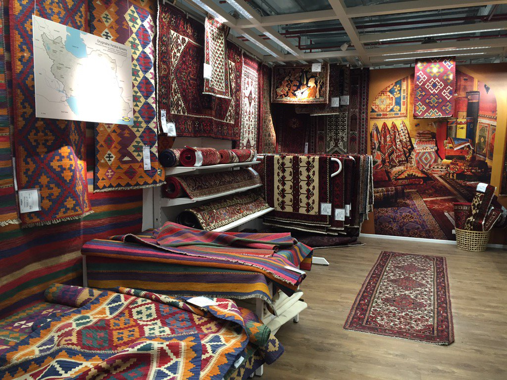Slavs And Tatars On Twitter Post Nuclear Accord Whole Section Of Persian Rugs At Ikea Map Included No Extra Cost