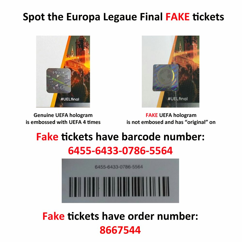 Another red been caught out tonight #FAKE tickets flooding the web.. #LFC #UEL RT and help others be aware https://t.co/YiTdDjqRcI