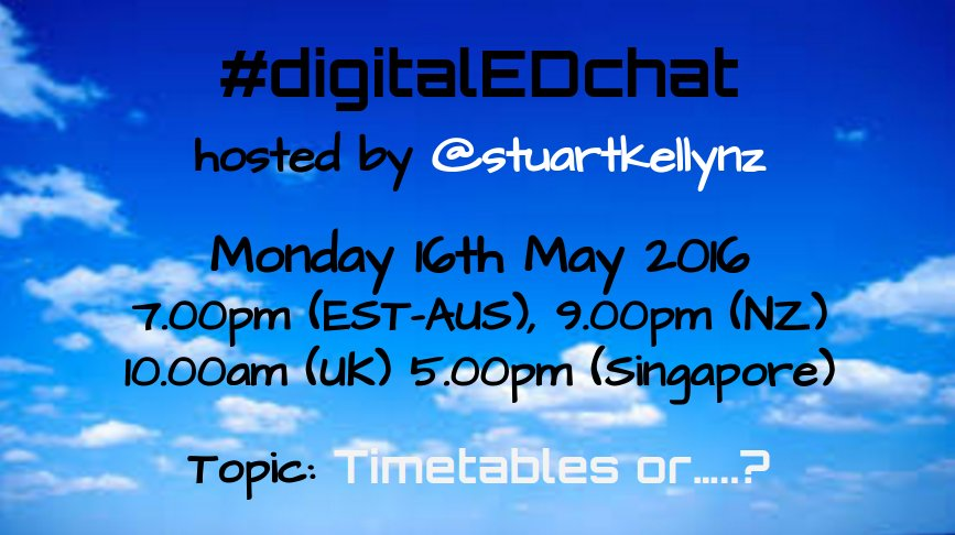 Join us tomorrow 4 #digitalEDchat  Global tweeters welcome #aussieED #includEDau #edchatNZ #asiaedchat #ukedchat https://t.co/09zP5jNKX1