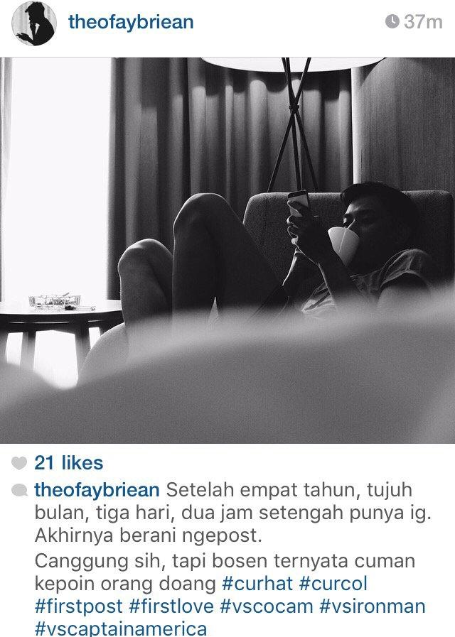 Posting pertama kali di instagram. Kalo ikhlas, follow ya. Kalo ga ikhlas jangan, takut dosa. https://t.co/gCZpQRxmDy