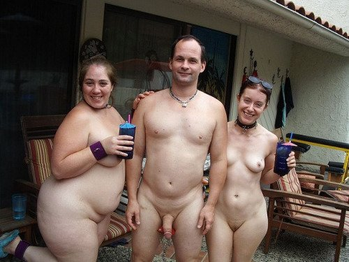 Nudist at friends house