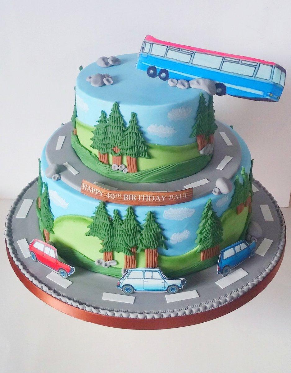 Wondrous Louieleitchcakes On Twitter 40Th Italian Job Cake Personalised Birthday Cards Beptaeletsinfo