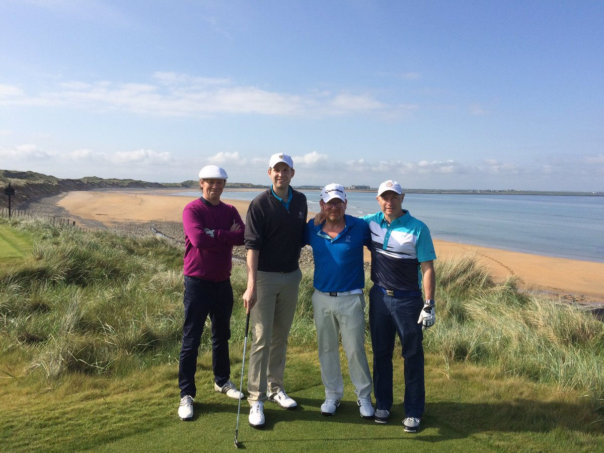 Memorable first look with @EricTrump and pals at the new @TrumpDoonbeg. Martin Hawtree is an artist. Fantastic job. https://t.co/2ART0AfiS2