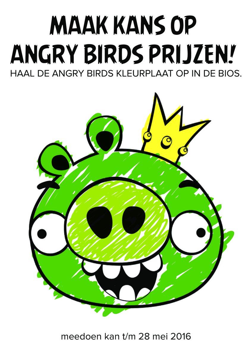 Angry Birds Kleurplaten En Zo.Kinepolis Nederland On Twitter Kleur Win Toffe Angrybirdsmovie