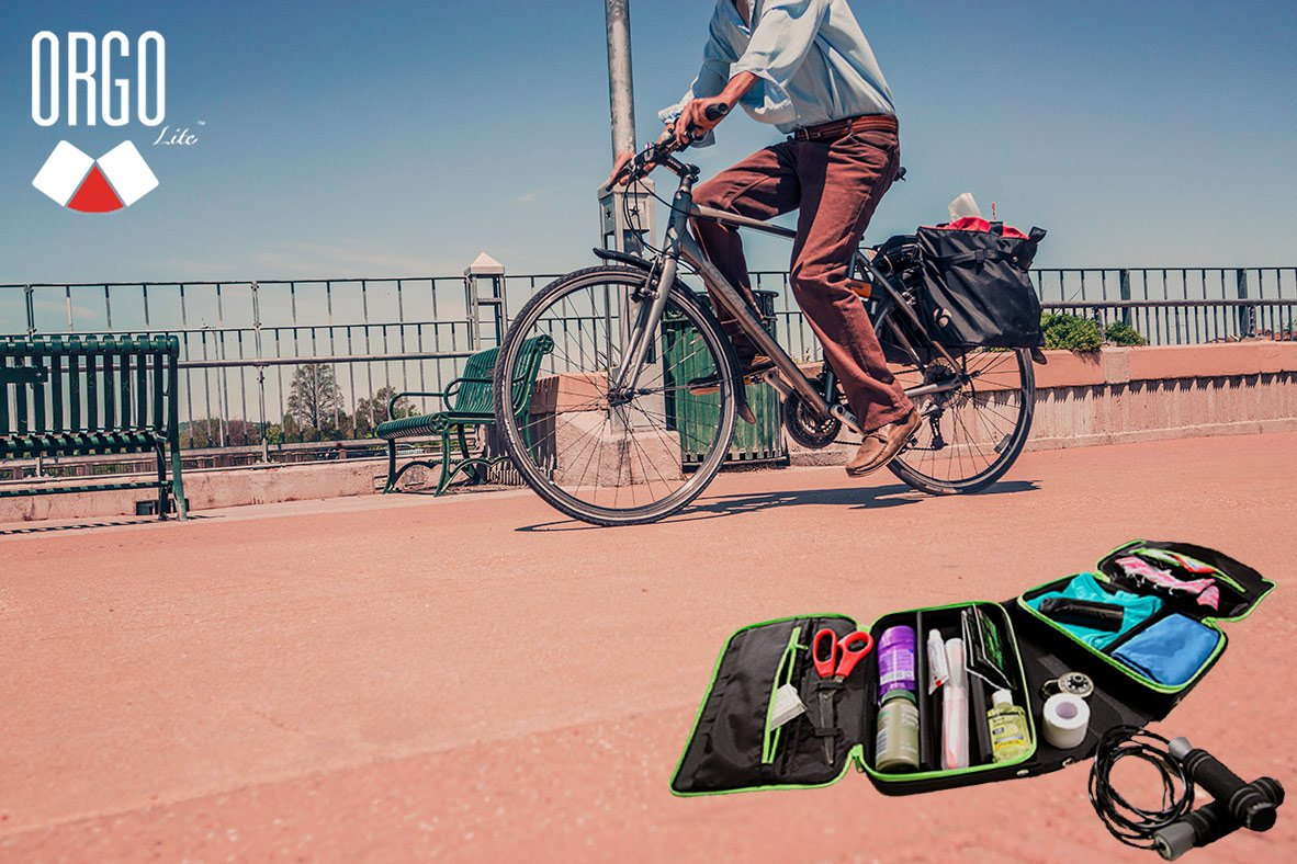 Never leave home without your essentials no matter what they are! #EverythingORGO #Bicycle #ToiletryCase #Biking<br>http://pic.twitter.com/pAIhqtPjLc