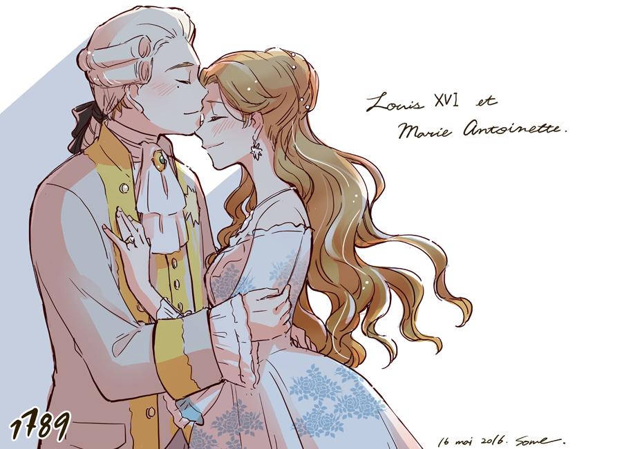 5/16はルイ16世とアントワネットの結婚記念日なので帝劇1789の2人でお祝い絵。14、15日のカーテンコールでの陛下&ルイジョセフのエスコート最高でした… https://t.co/5cHztTJaLZ