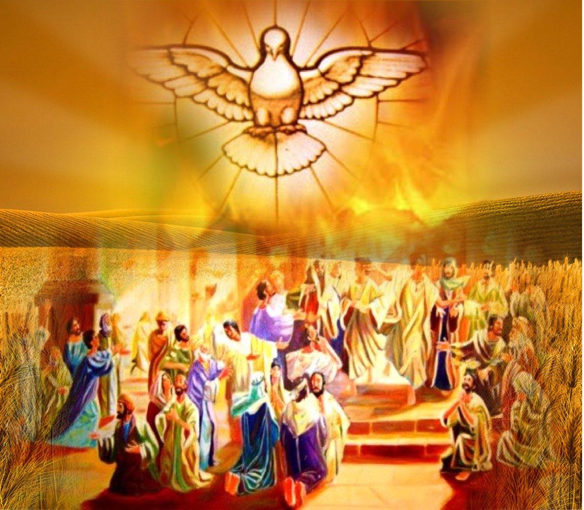 "on Twitter: ""Hoje, celebramos *Pentecostes*. descida do Espírito ..."