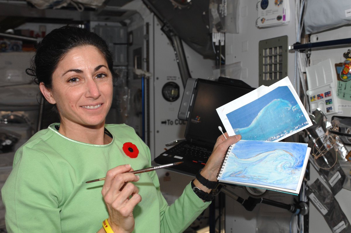 1st painting in space