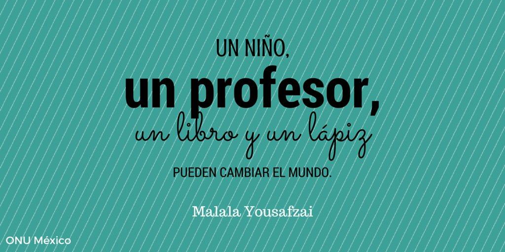 Los profesores son la llave para la creación de sociedades basadas en el conocimiento y la paz. #Felizdíadelmaestro https://t.co/AiGkojwoUN