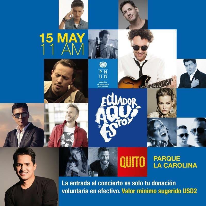 Thumbnail for Los artistas que se hicieron eco del concierto 'Ecuador aquí estoy'