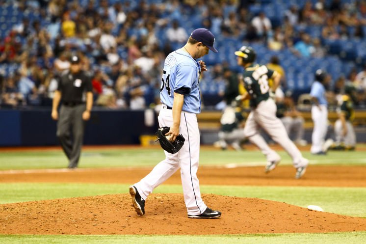 Rays squander late lead in loss to Oakland