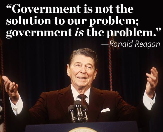 Image result for reagan govt is the problem