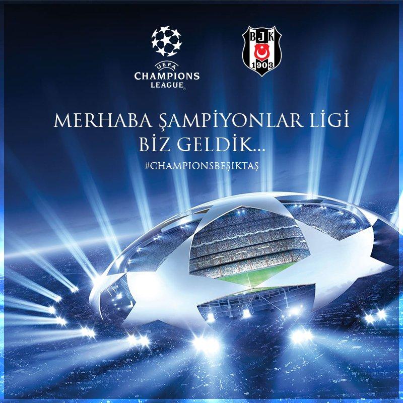 Merhaba @ChampionsLeague biz geldik...   #ŞampiyonBeşiktaş  #ŞerefiyleHakkıyla https://t.co/sIbFFWkRcd