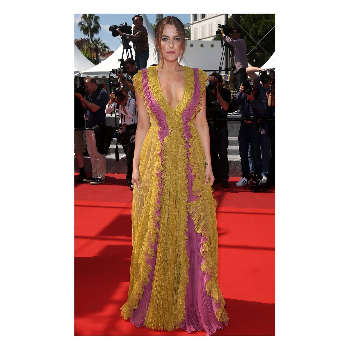 a8bf0e966790b4 in a guccicruise16 silk and lace gown rileykeough at the american honey  premiere at cannesfilmfestival