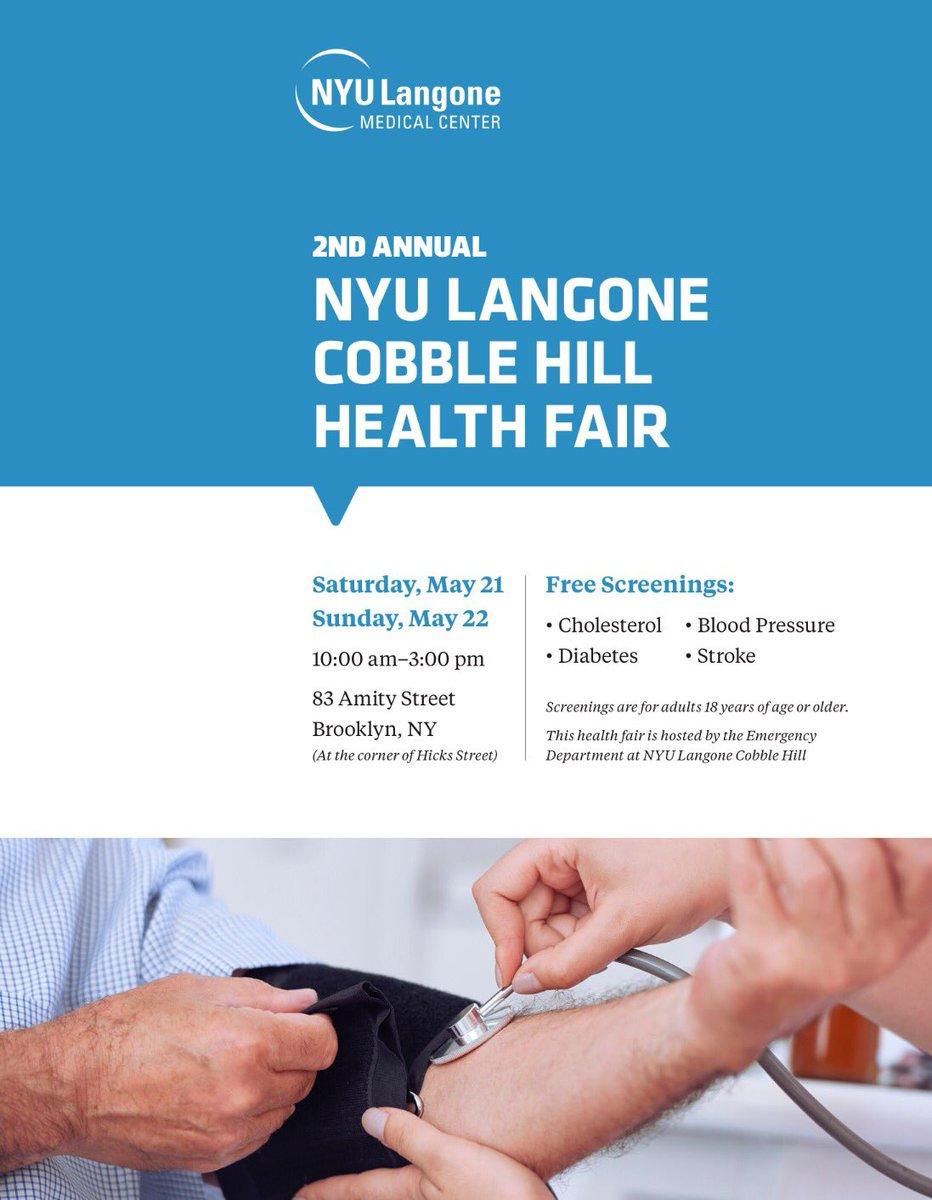 Joe Lhota On Twitter NYU Langone Cobble Hill HEALTH FAIR Sat