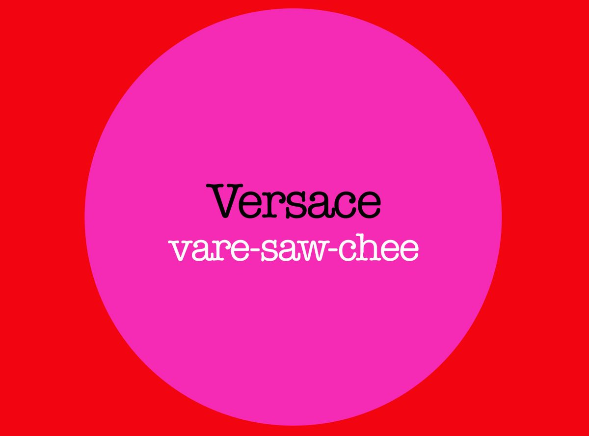 """FIDM Fashion Club on Twitter: """"How to pronounce @Versace + the"""