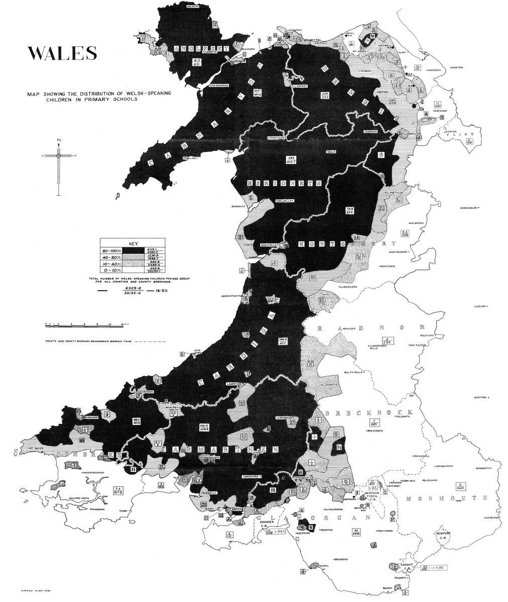 British Irish Language Maps On Twitter Siaradwyr Cymraeg - Welsh language map
