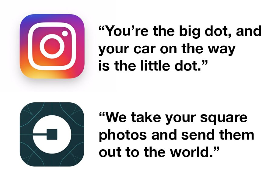 You could actually swap the new Instagram and Uber logos, and they'd be just as meaningful, if not moreso. https://t.co/2y4UtqZpox