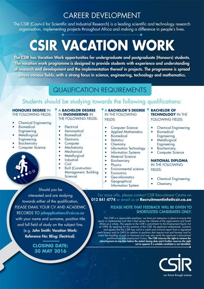 Dear UKZN.   Please take note of the following vacation work opportunity for undergraduate and postgraduate students https://t.co/jjniYByPD2