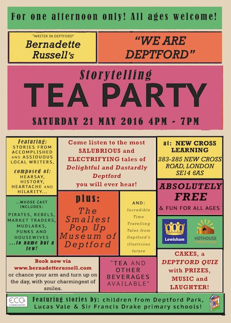 I'm coming home to #Deptford to get ready for this @newxlearning hope you'll come. This saturday FREE 4-7pm https://t.co/F8XyRNAYLl