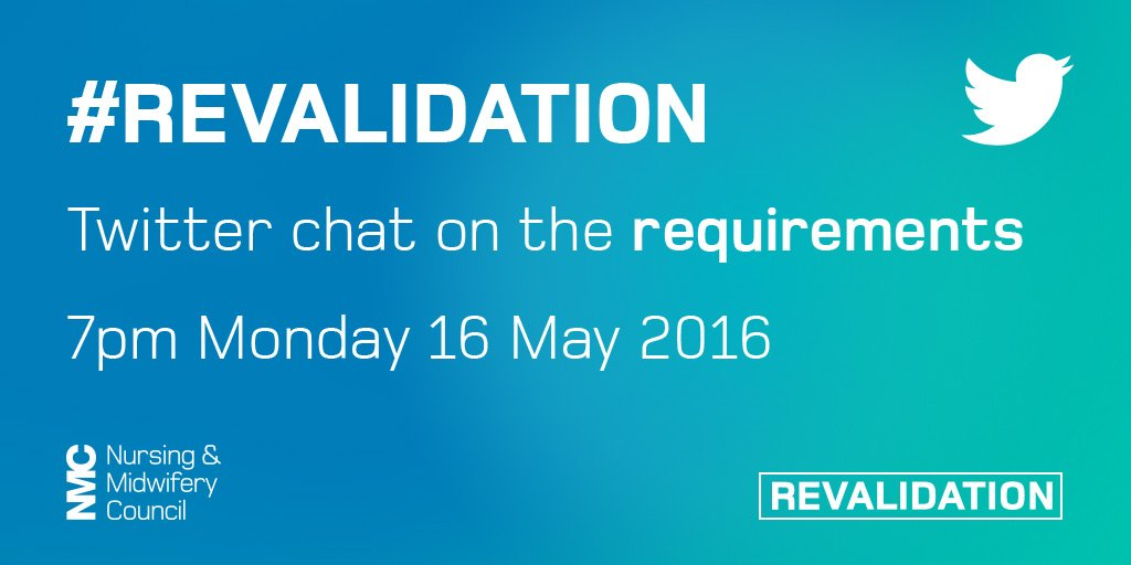 Thumbnail for Twitter chat on #Revalidation requirements