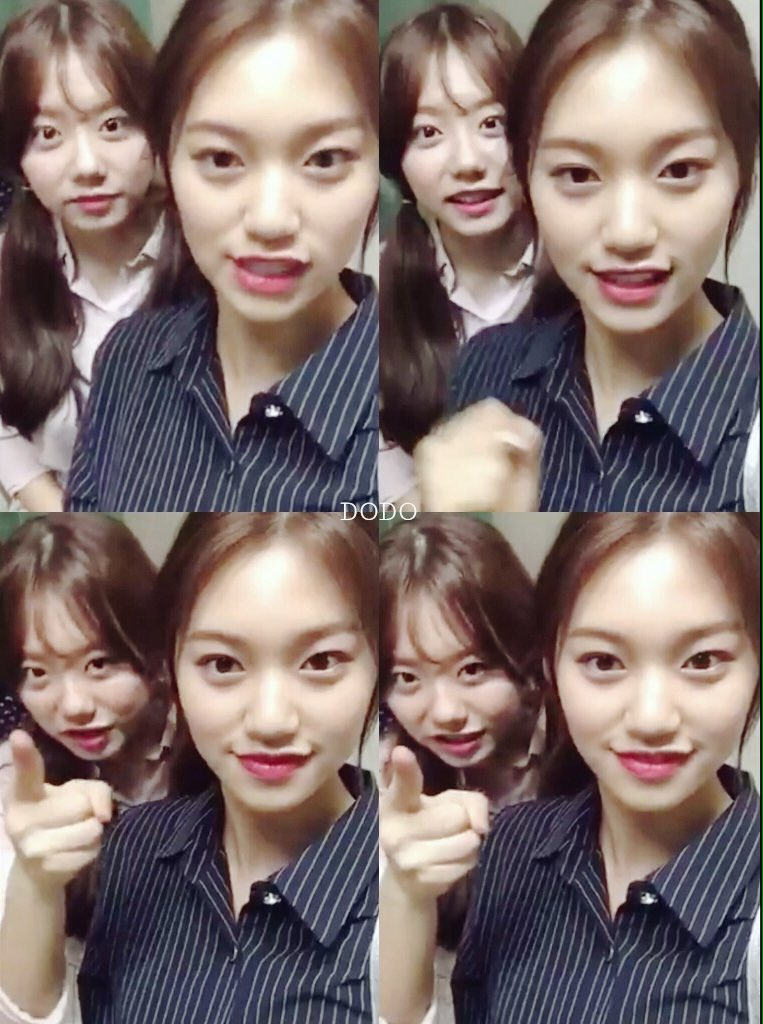 [PIC] 160516 Kim Sister (Kim Doyeon & Kim Sohye) Today~ Cr; dodo  #IOI #아이오아이