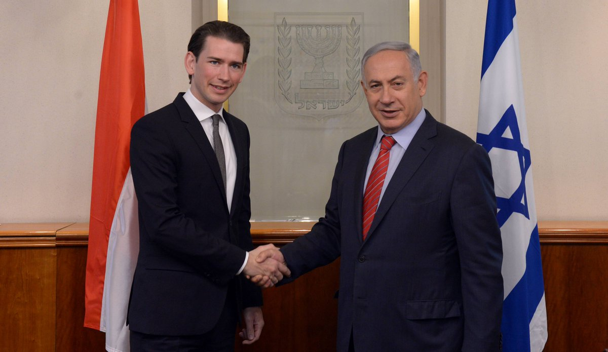 Prime Minister Benjamin Netanyahu met today with Austrian Minister of Foreign Affairs @SebastianKurz. https://t.co/y1FBoYXbyl