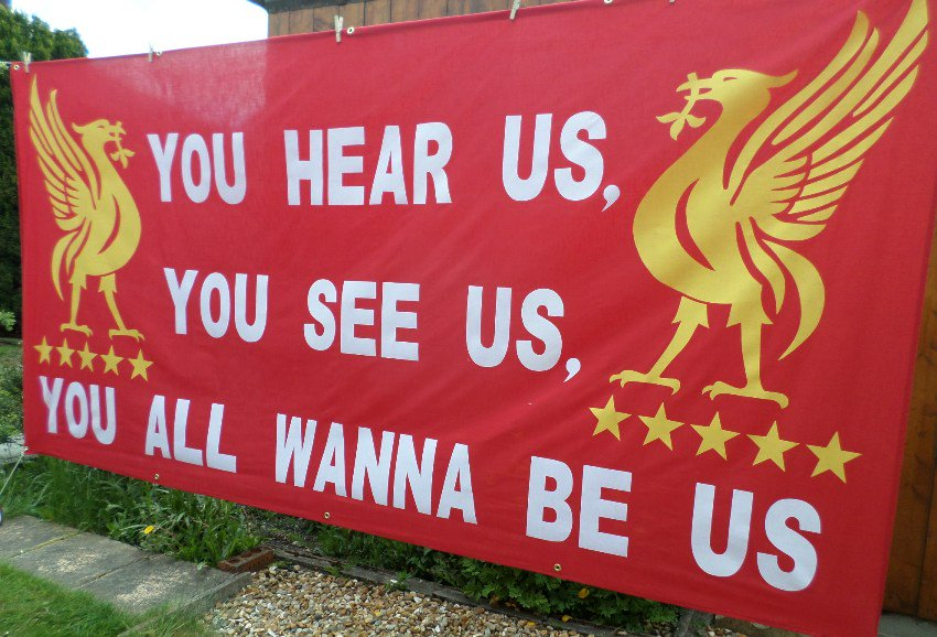 banners and flags on twitter   u0026quot new liverpool fc banner