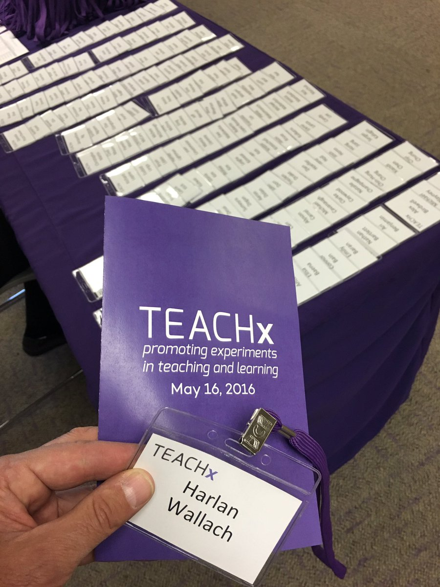 All registered and ready for today's first  #teachx2016 at #Northwestern https://t.co/F2rq55CLts