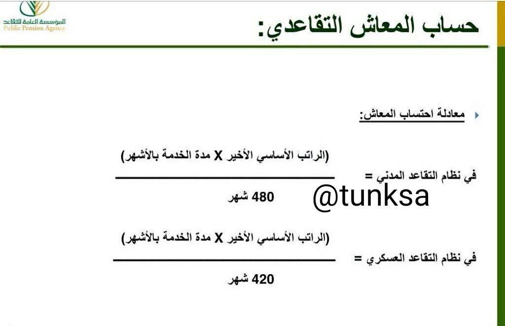 ملتقى معلمي السعودية Twitterissa طريقة حساب الراتب التقاعدي عند أكتمال الخدمة ٢٠ سنه للموظف المدني وموافقة مرجعه الوظيفي و١٨ سنه للخدمة العسكرية Https T Co M0dllqybjz