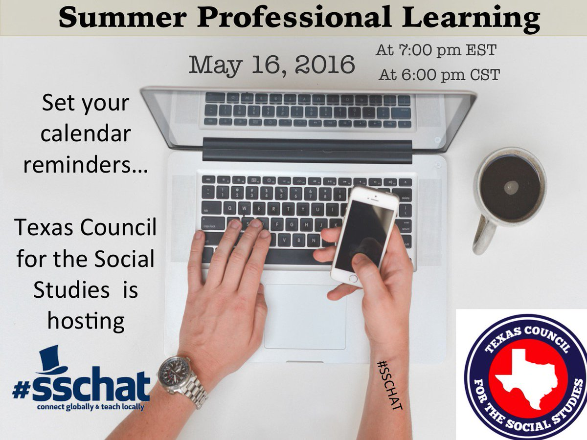 #sschat is starting soon. Join us for discussion about summer learning. https://t.co/r4t1tyQJ7P