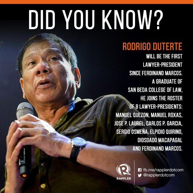 IN NUMBERS: President-elect Rodrigo Duterte https://t.co/jFNRmZ2tKV https://t.co/SZAm2bI15e