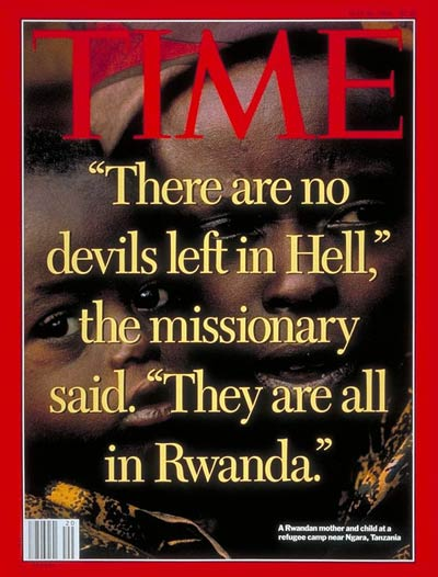 "Tom Ndahiro on Twitter: ""May 16,1994 Time Magazine cover describes genocidaires: No more devils in hell bcoz all are in #Rwanda. #Kwibuka22… """