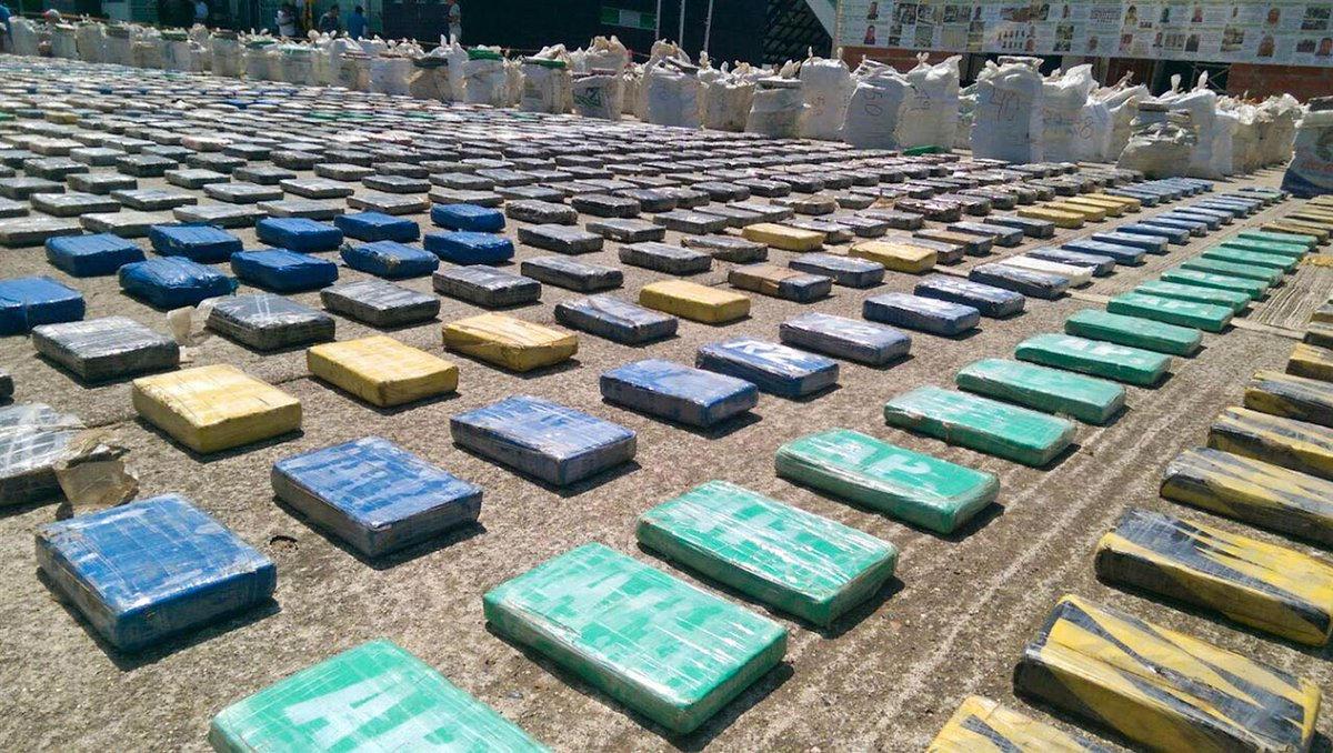 Police seize 8.8 tons of cocaine in Colombia; estimated to be worth $240,000,000. https://t.co/28V8a2hUAF