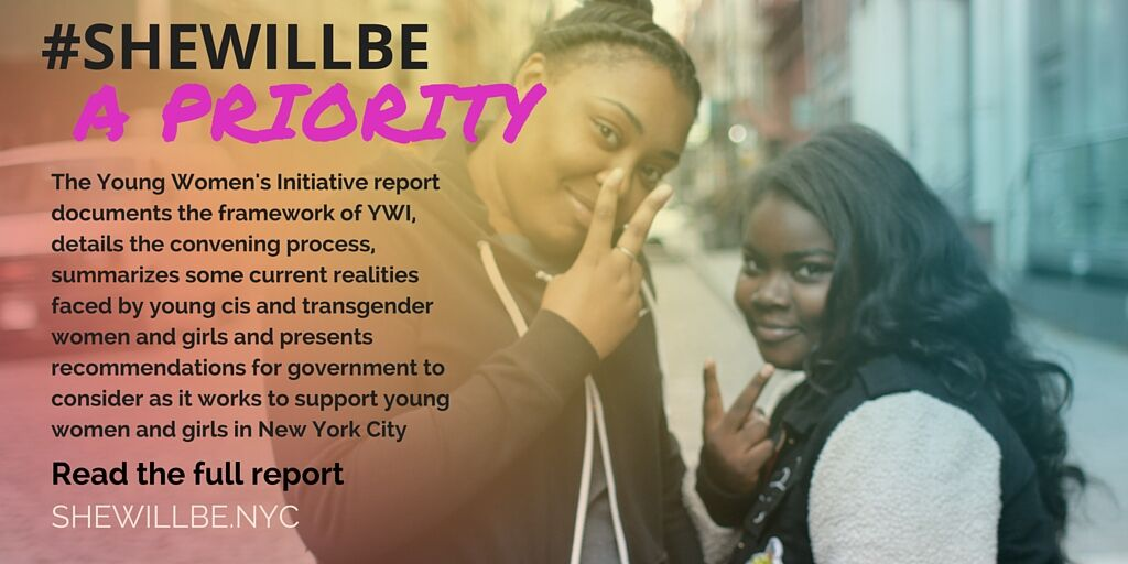 RT @LeonXDavis: #SheWillBe a Priority! What do #YWOC of #NYC want & need to thrive in NYC? Read YWI Report: https://t.co/AkraZ9diRi https:/…