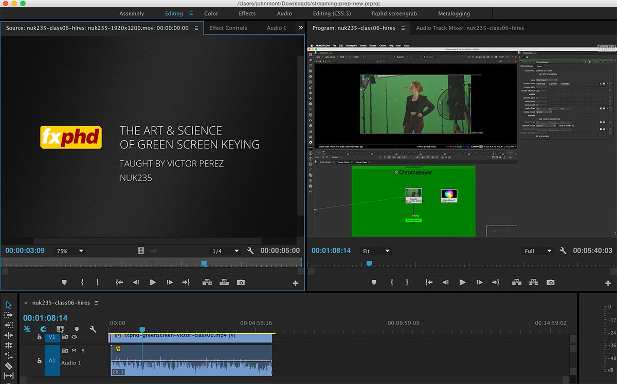 """Spending the day prepping our new """"Art & Science of Green Screen Keying"""" course https://t.co/tI5TPfWMH1 https://t.co/Hu3sx3ukmJ"""