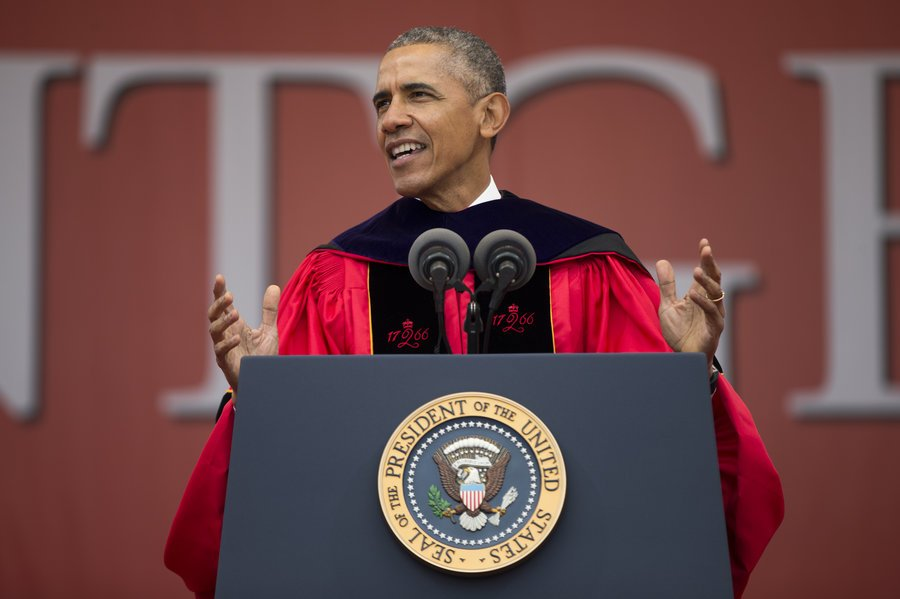 Obama Takes Jabs At Trump During Commencement Speech