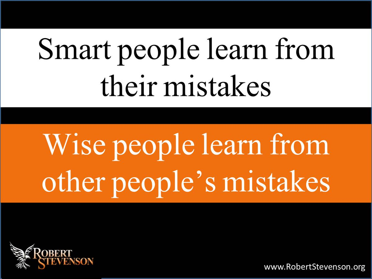 Is it better to learn from our own mistakes or the ...