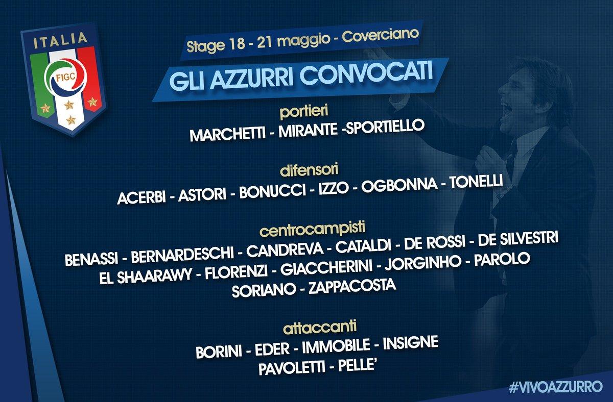 #Azzurri  I 28 convocati dal ct Antonio #Conte per lo stage! #Nazionale #Italia #VivoAzzurro