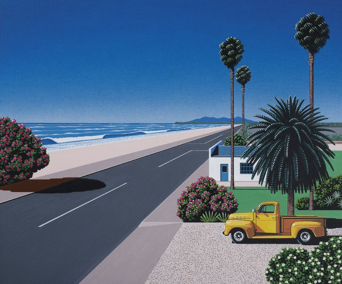 If someone ever painted how I imagine paradise, this guy nailed it in the 80's. Art of Hiroshi Nagai. https://t.co/hPCwjBKFxZ