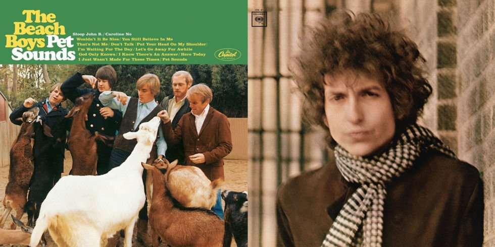 """It's the 50th anniversary of both """"Blonde on Blonde"""" and """"Pet Sounds."""" Golly, what a day. https://t.co/hBSJGTxMav"""