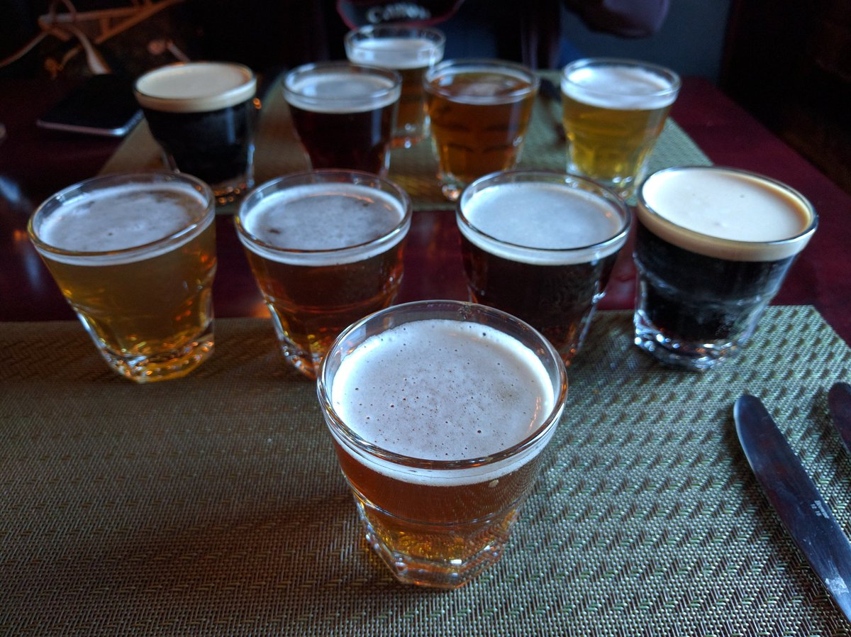 Beer Sampler at YellowBelly Brewery and Public House in St. John's, Newfoundland and Labrador