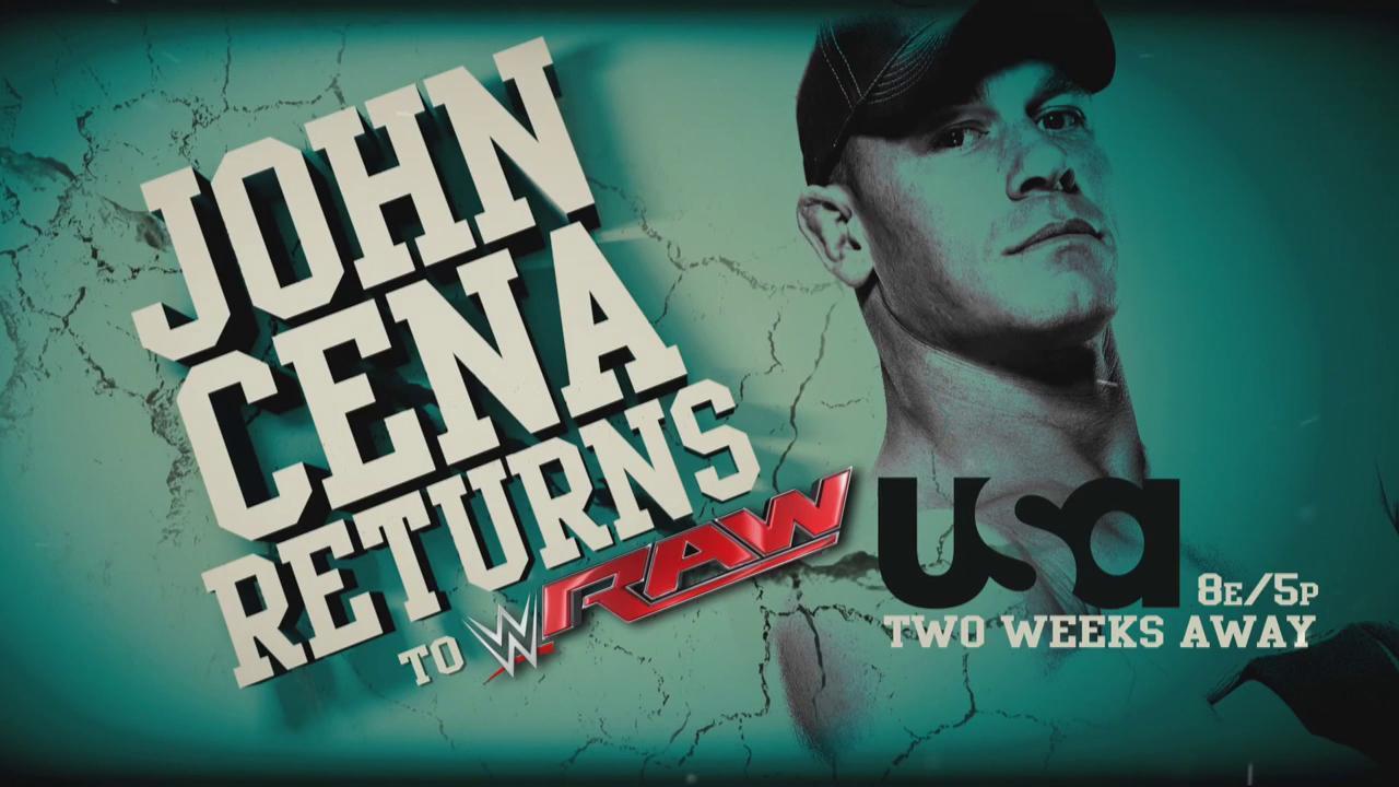 WWE zapowiada powrót Johna Ceny na RAW